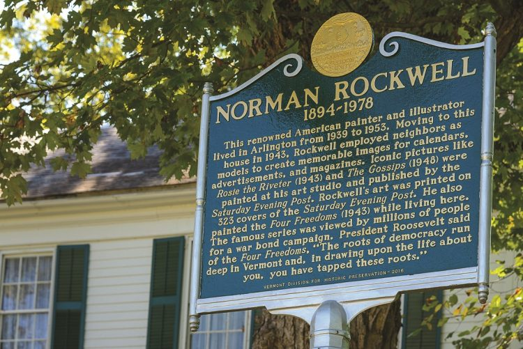 norman rockwell historical marker