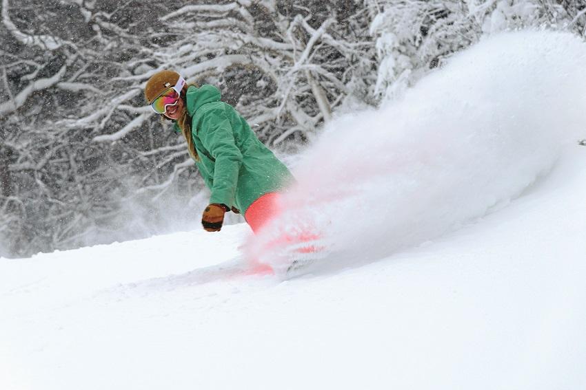 snowboarder at stratton