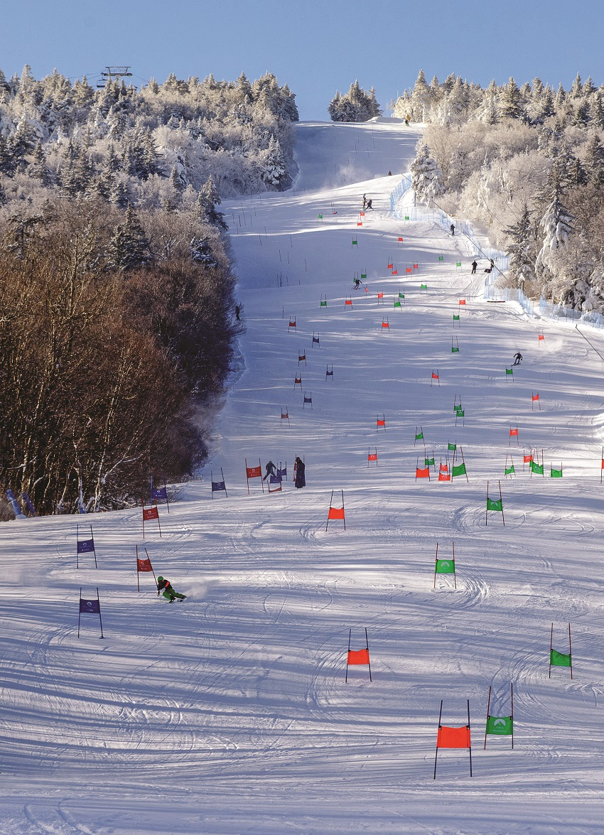 ski racing at stratton