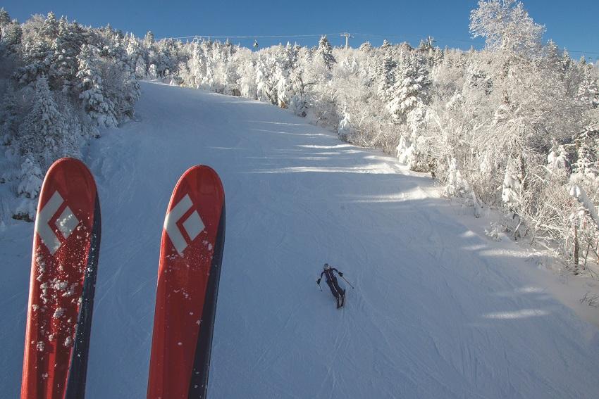 skiing at stratton