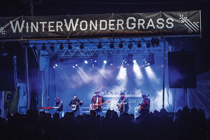 winter wonder grass concert at stratton mountain