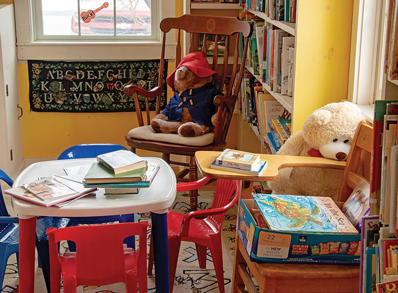 childrens reading corner at winhall memorial library
