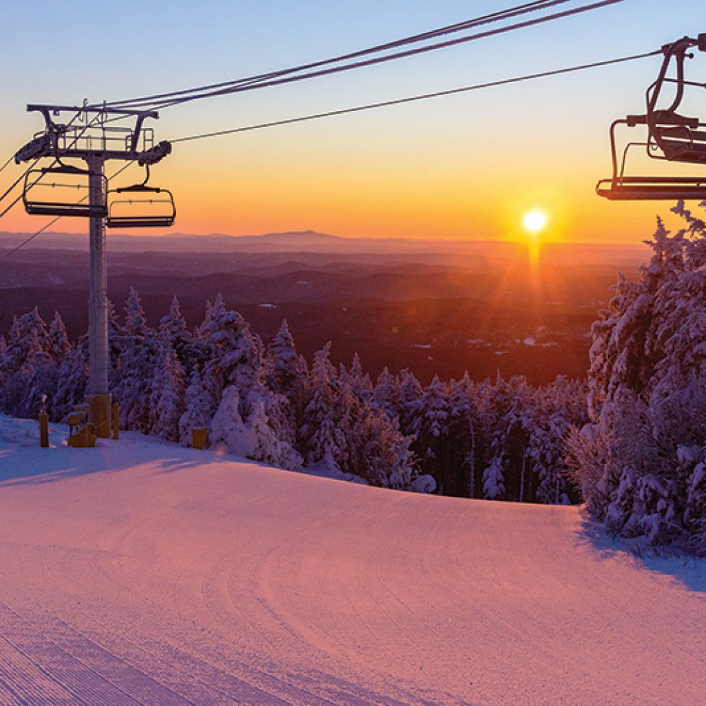 sunrise at stratton mountain