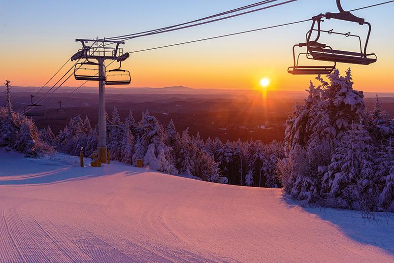 sunrise at stratton mountain